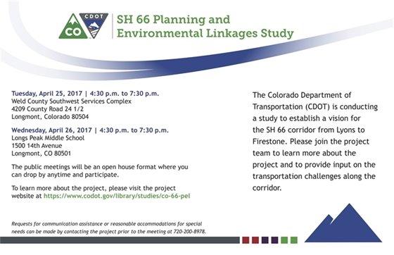 SH 66 Planning & Environmental Linkage Study