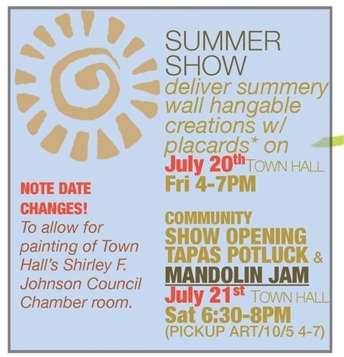 Summer Town Hall Art Show