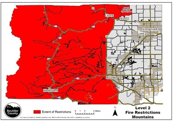 Level 2 Fire Restrictions Map